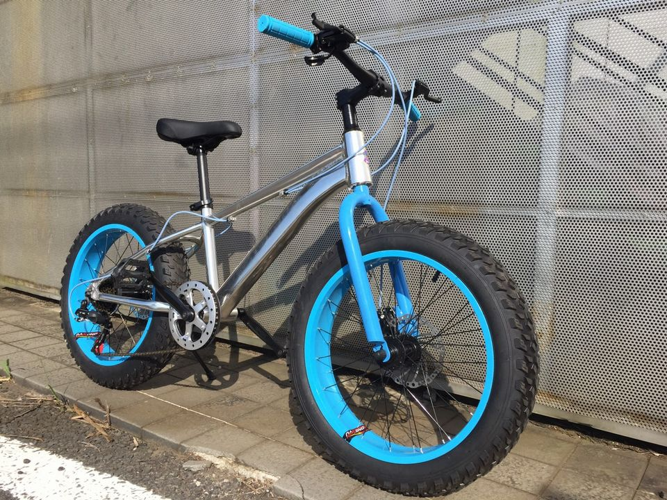 stryke BMX fat bike sky blue