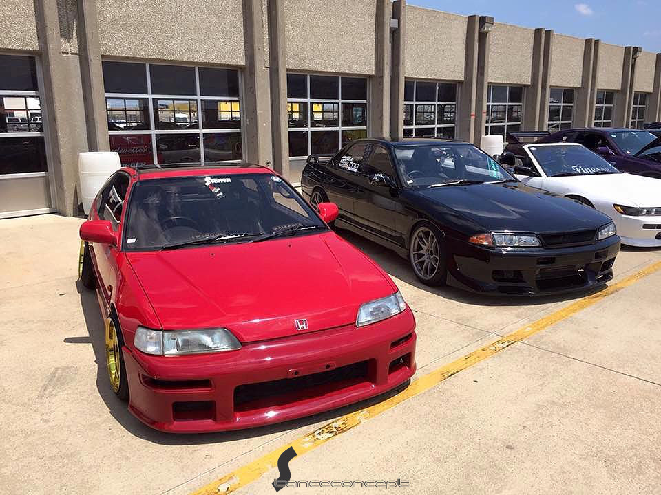 Stanceconcept Rising Sun All Gold/Honda CRX OffsetKings Texas