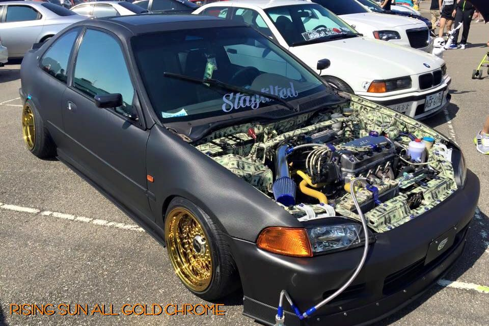 Hellaflush Taiwan 2015 banzai banzai sports with Rising sun all gold